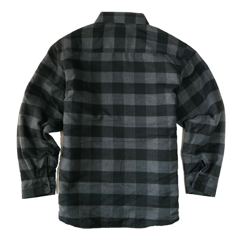 YAGO Plaid Button Up Jacket Black/Gray/A3B