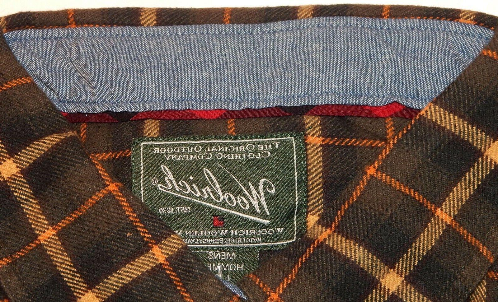 Woolrich Button-Down Shirt Size L $55