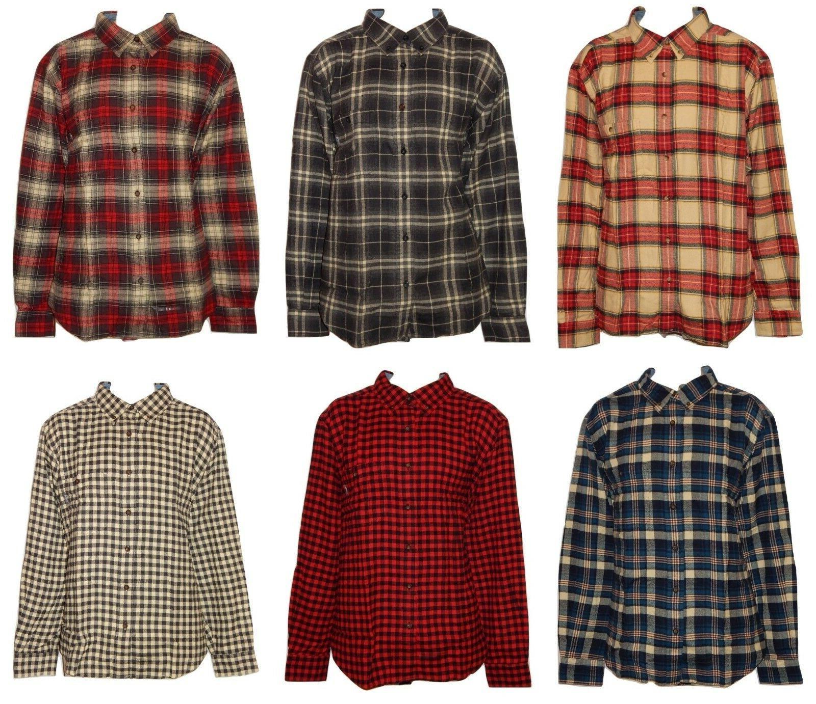men s plaid flannel button down shirt