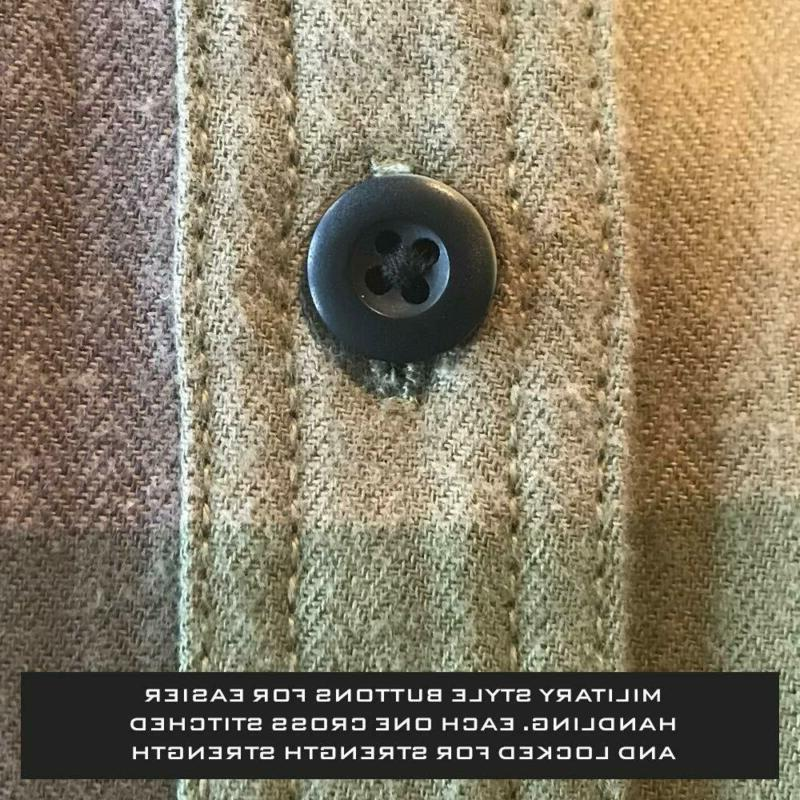 Bone Collector Men's Flannel - Sleeve Button - Relaxe
