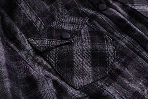 Zenthace Men's Button Flannel Shirt