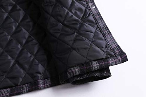 Zenthace Men's Quilted Button Flannel Shirt Jacket