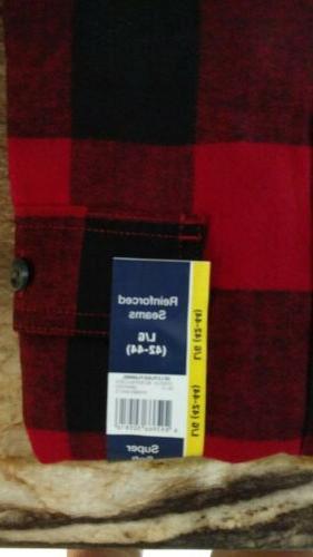 Men's Red/Black Buffalo Check Flannel ~ Size
