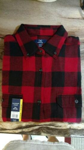 men s red black buffalo check flannel