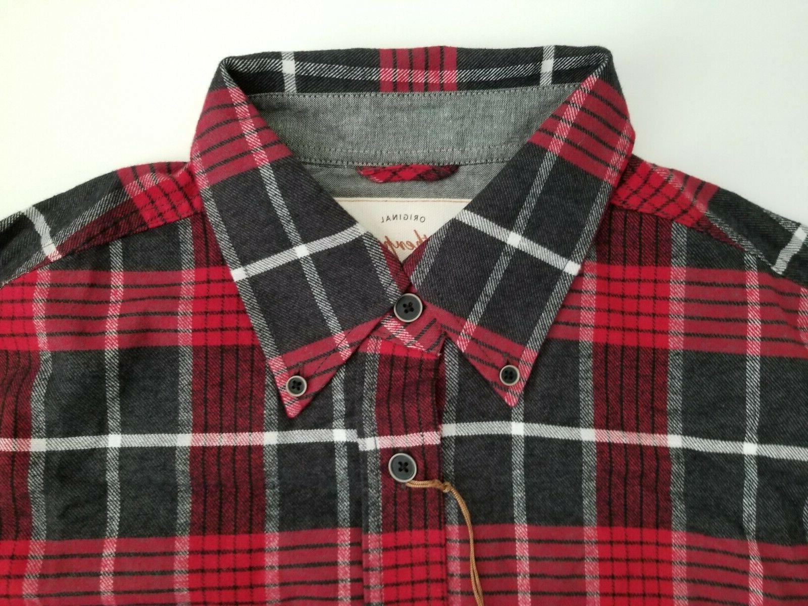 WEATHERPROOF Red Shirt Medium Button Up NWT