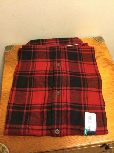 George Men's Plaid Flannel Button
