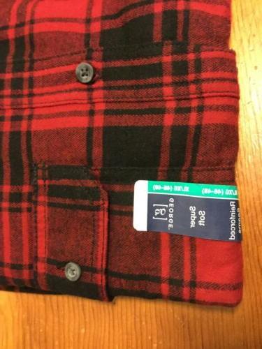 George Men's Flannel Button Cotton