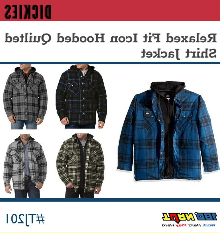 men s relaxed fit hooded quilted flannel