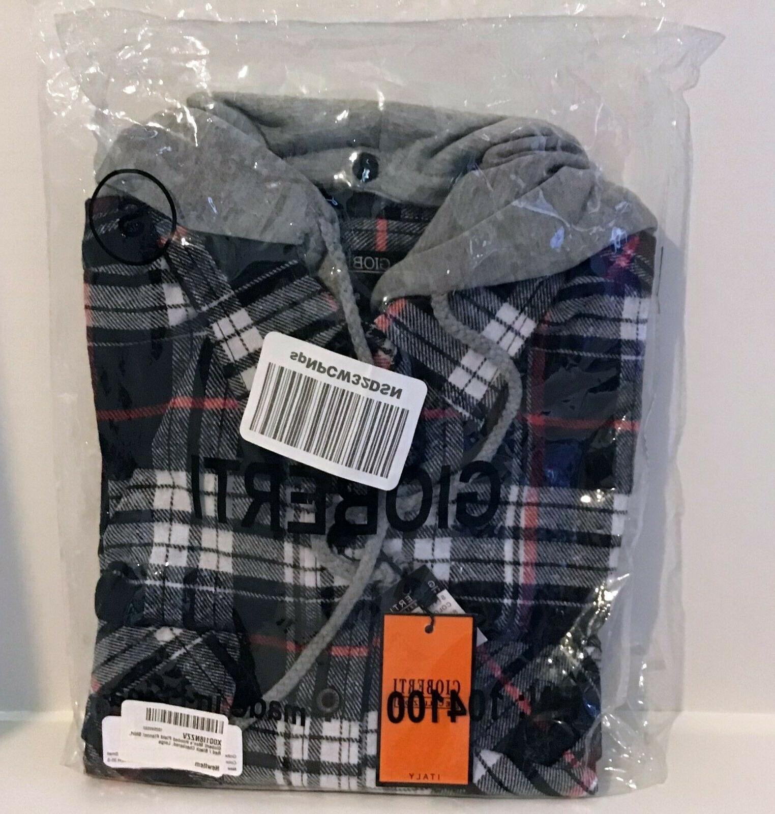 Gioberti Plaid Flannel Down Shirt Small