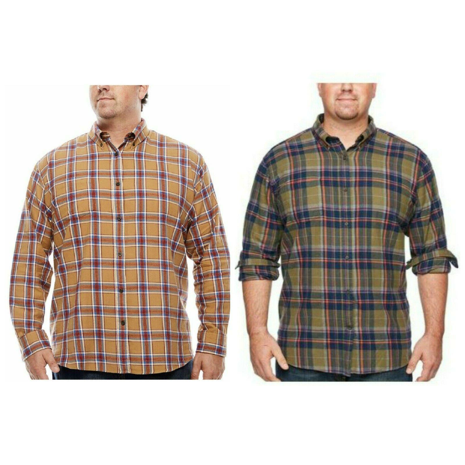 men s shirt ls plaid flannel xlt