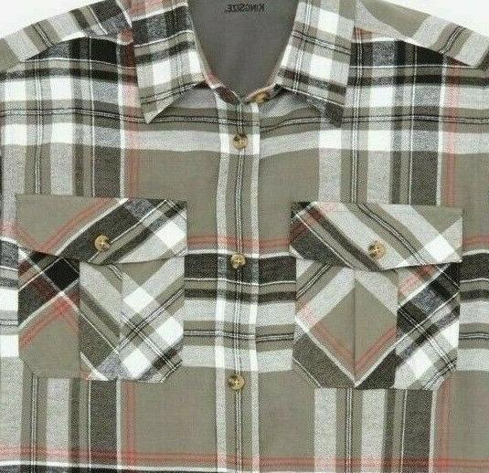 KingSize Men's Shirt Plaid