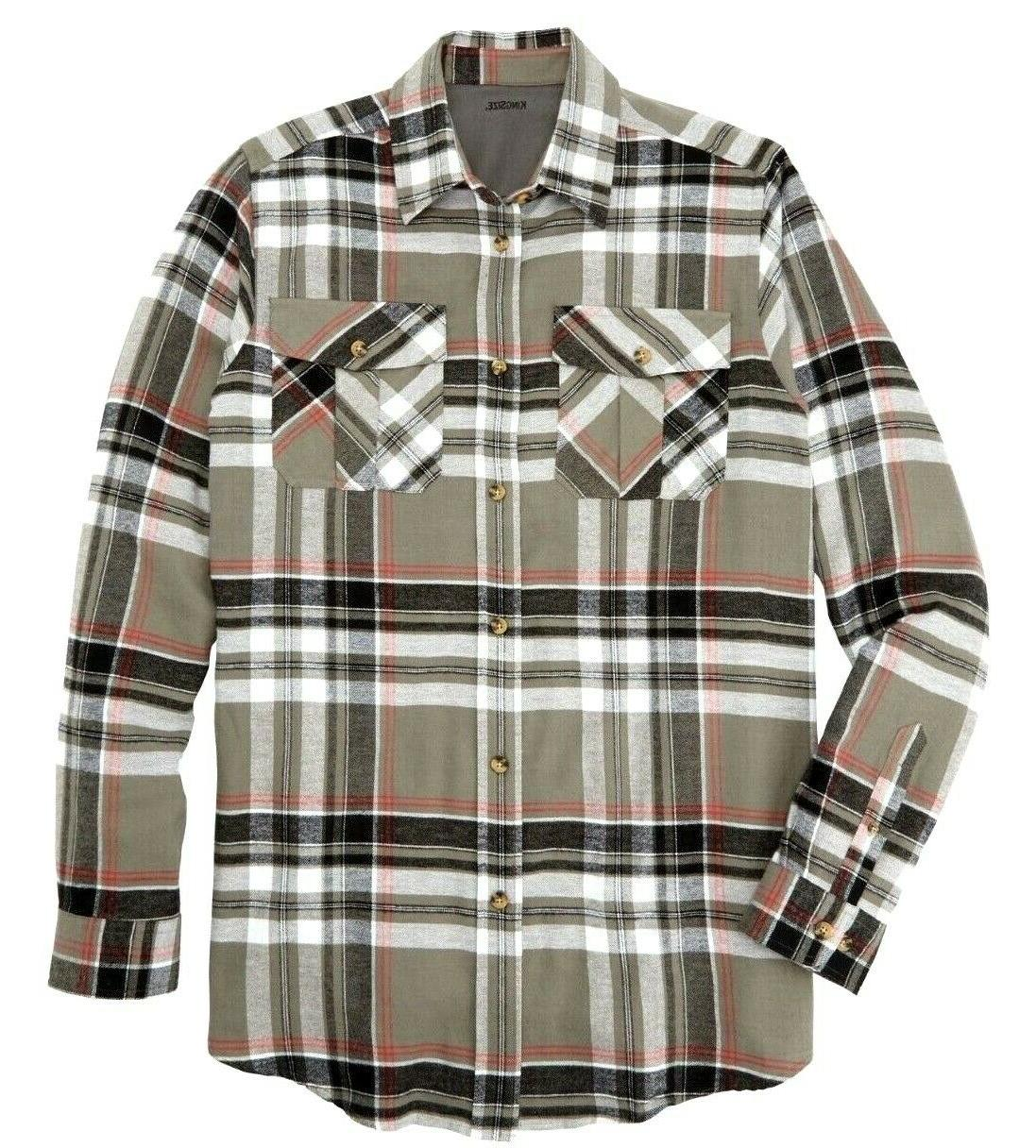 men s shirt 2x plaid flannel buttom