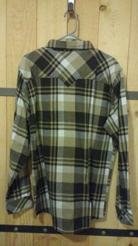 Legendary Whitetails Western Flannel Shirt L NWT