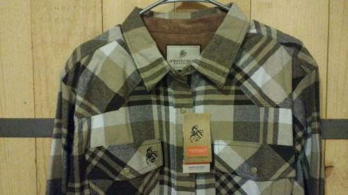 men s shotgun western flannel shirt size