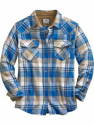 men s shotgun western flannel