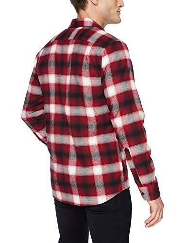 Goodthreads Brushed Shirt, red Shadow Plaid,