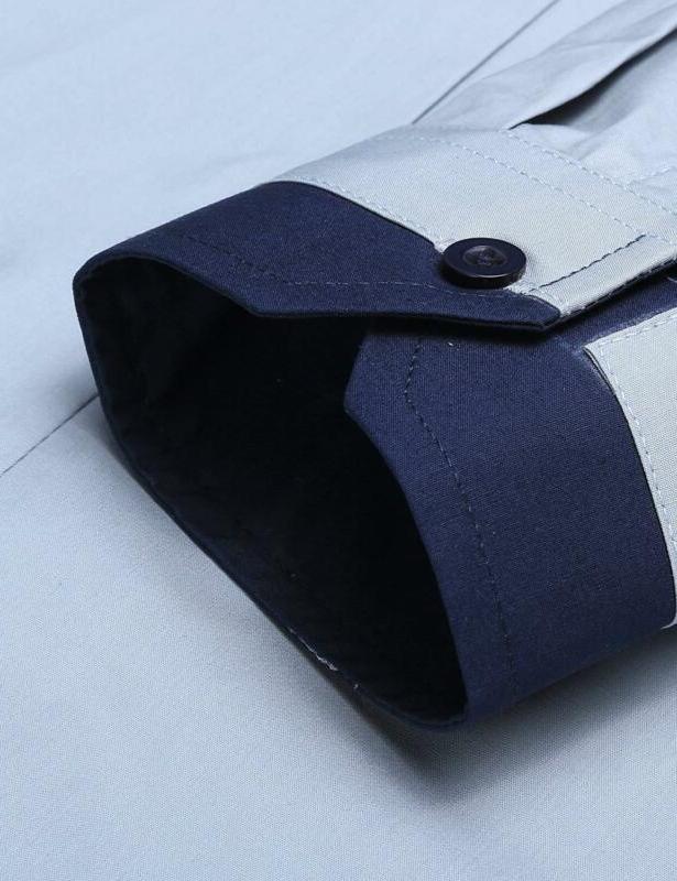 JINIDU Slim Striped Dress Shirt Casual Sleeve Butto
