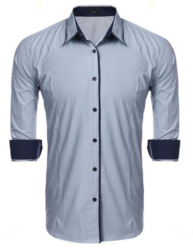 JINIDU Striped Shirt Casual Butto