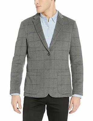 men s slim fit wool blazer heather