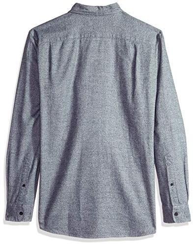 Goodthreads Men's Standard-fit Heather Shirt, Navy,