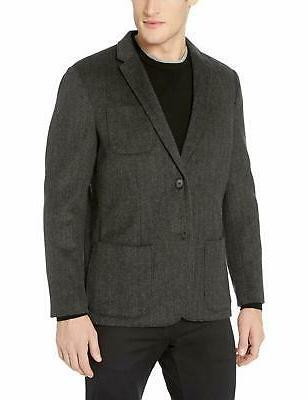 men s standard fit wool blazer charco