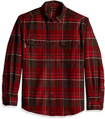 Wolverine Standard Heavyweight Sleeve Flannel Shirt, Pimento