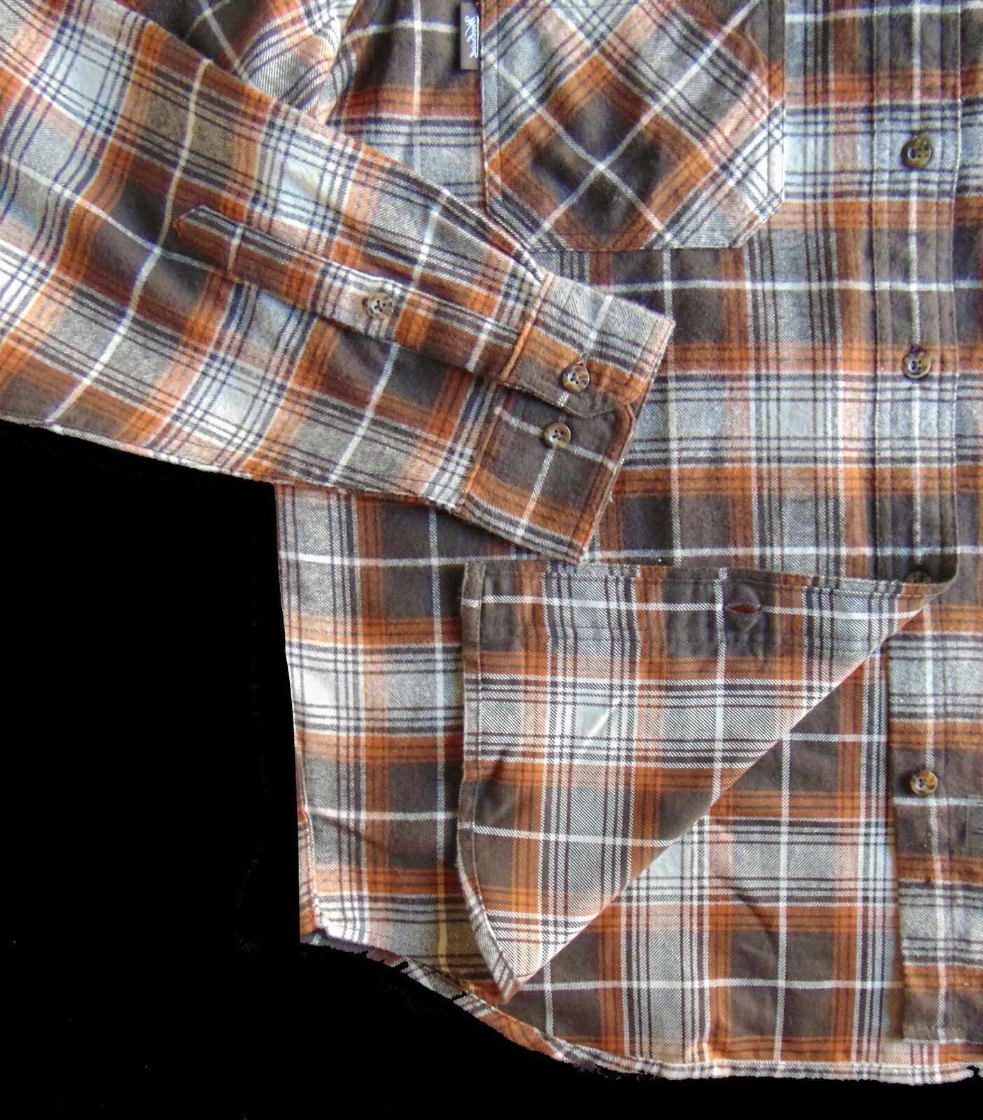 Men's TALL Brown Cotton Shirt NWT