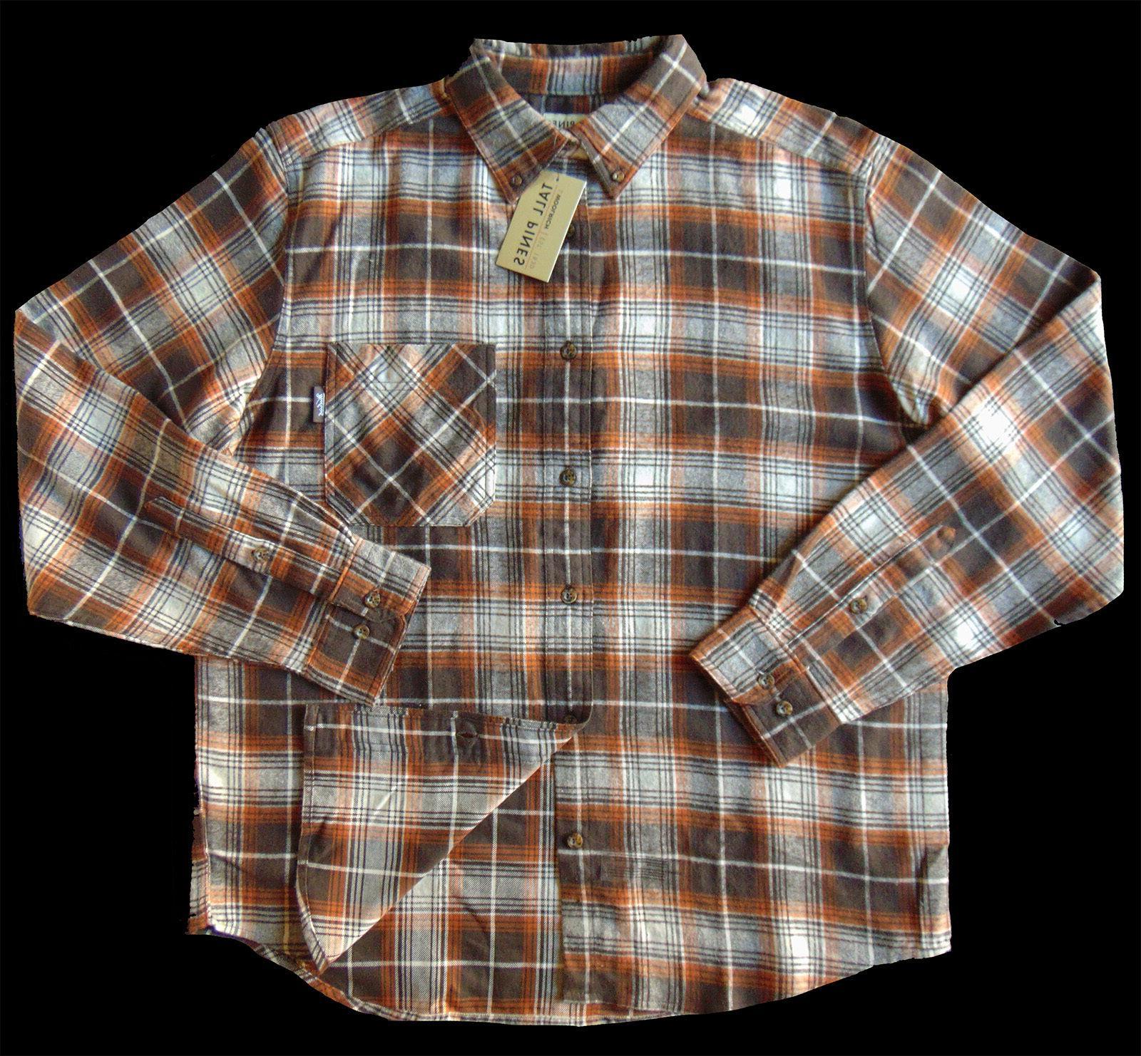 Men's TALL PINES WOOLRICH Cotton Shirt Medium NWT