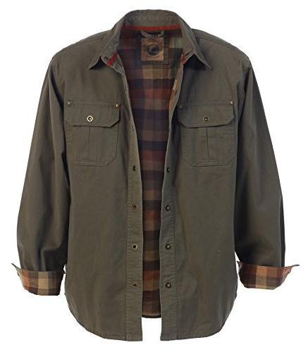 Gioberti Men's Twill Jacket with