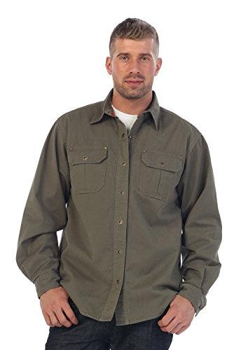 Gioberti Twill Jacket with Flannel Olive,