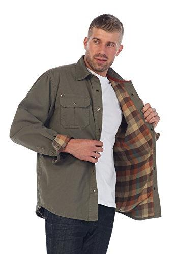 Gioberti Men's Twill Jacket with Lining, Olive,
