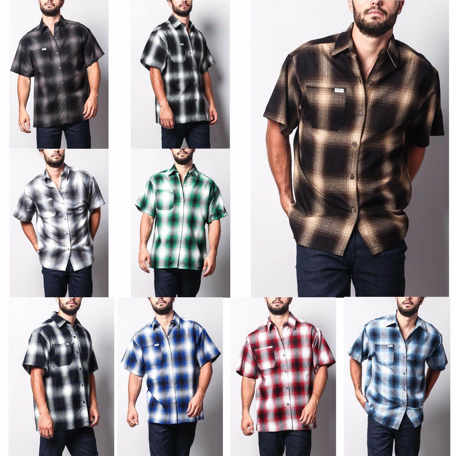 men s western casual old school plaid