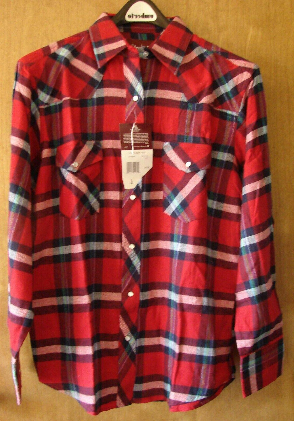 MEN'S SHIRTS RED BLUE PEARL SNAPS