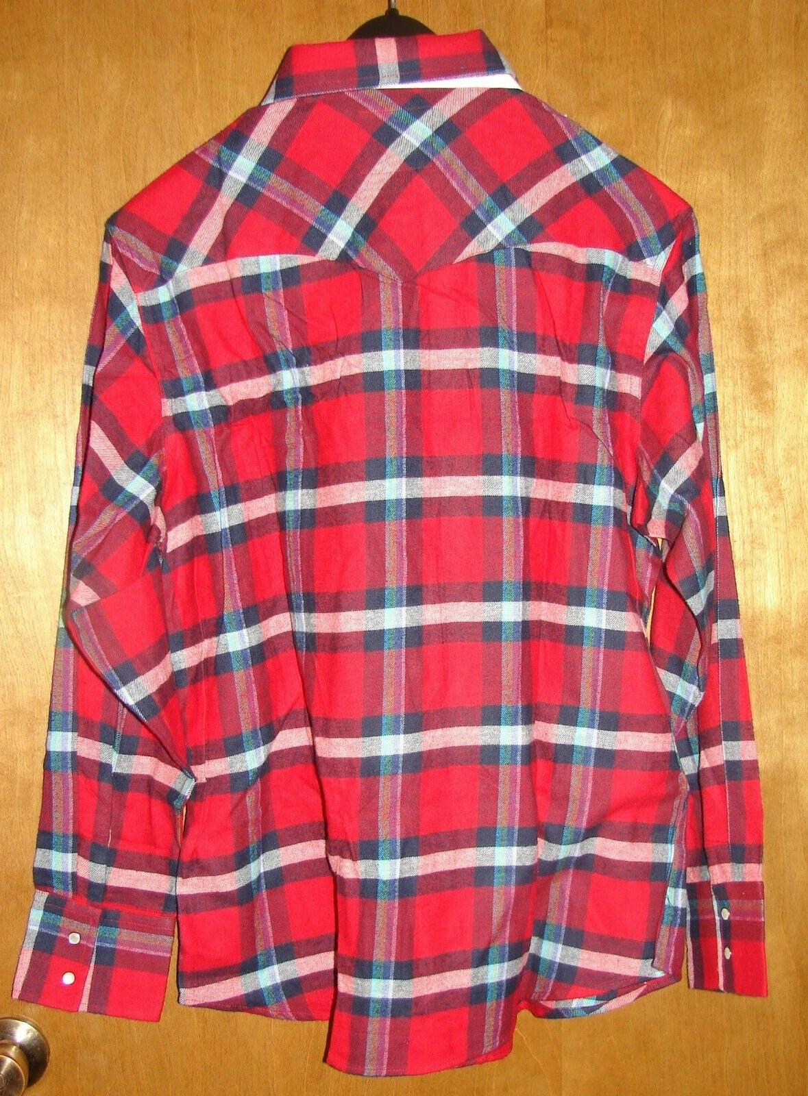 MEN'S WESTERN RED BLUE PEARL SNAPS NEW