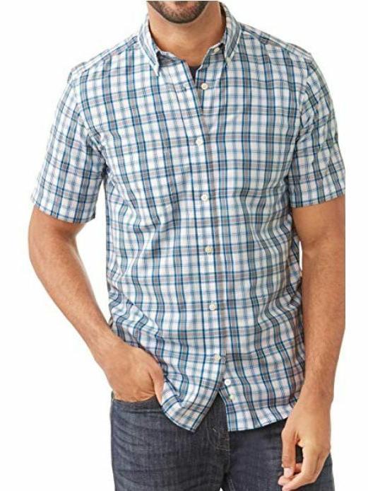 men s wrinkle resistant short sleeve shirt
