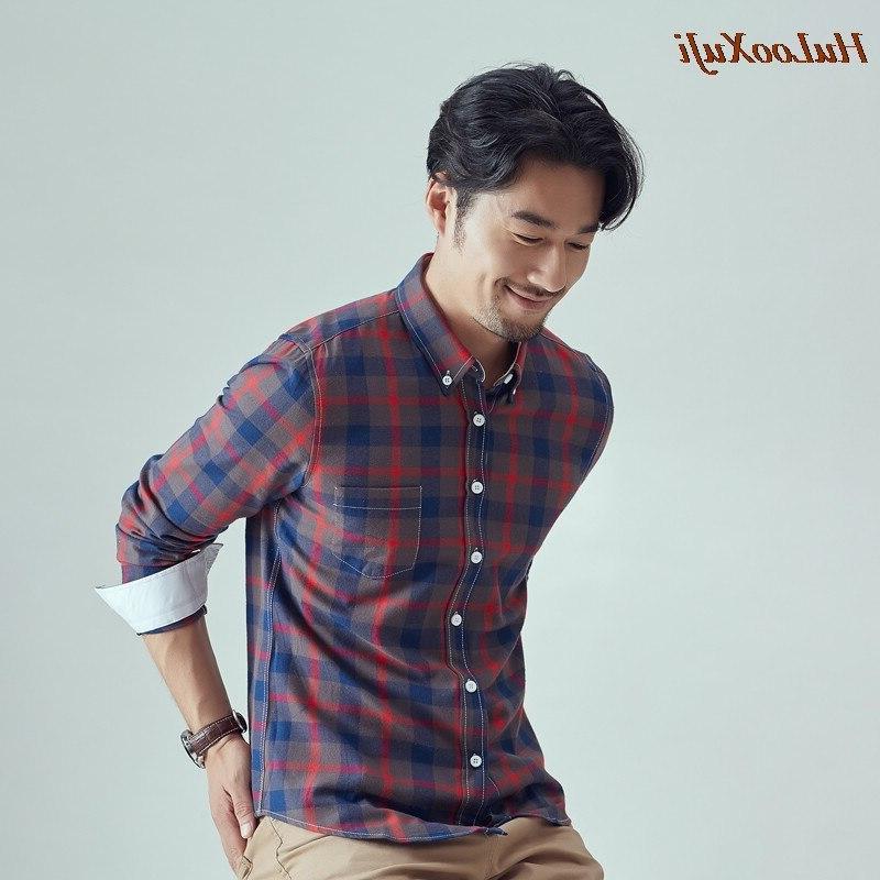 HuLooXuJi <font><b>Flannel</b></font> Plaid <font><b>Shirt</b></font> Cotton Casual Soft Comfort Brand US