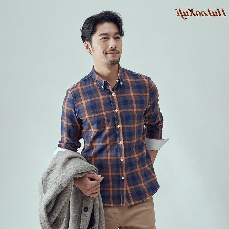 HuLooXuJi Autumn <font><b>Flannel</b></font> Casual Sleeve Soft <font><b>Shirts</b></font> US