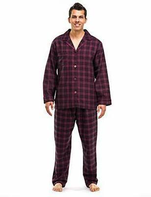mens 100 percent cotton flannel pajama set