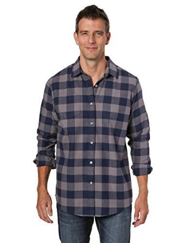 mens 100 percent cotton flannel shirt gingham