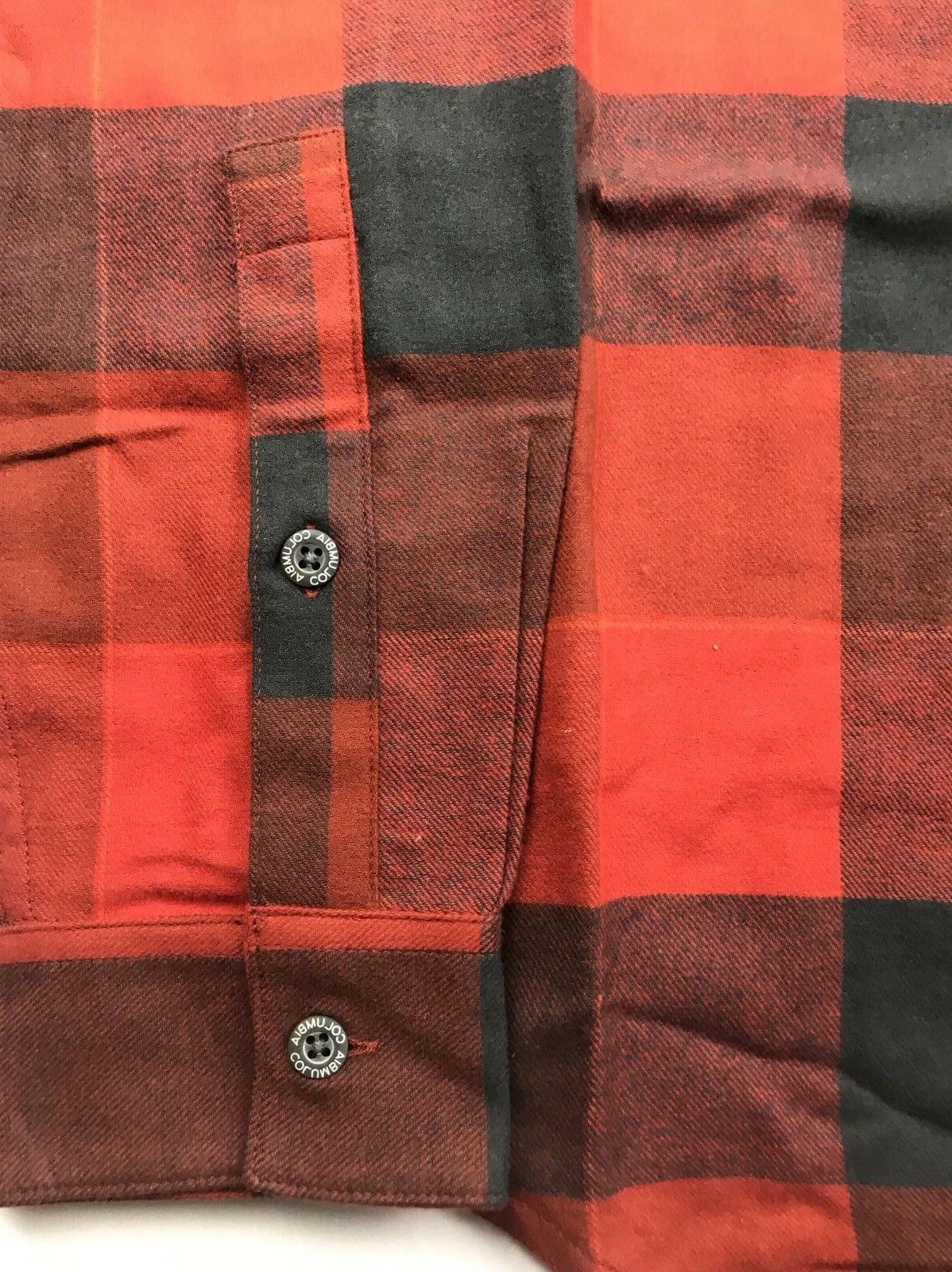Columbia Mens Black Boulder Ridge Brushed Flannel NWT