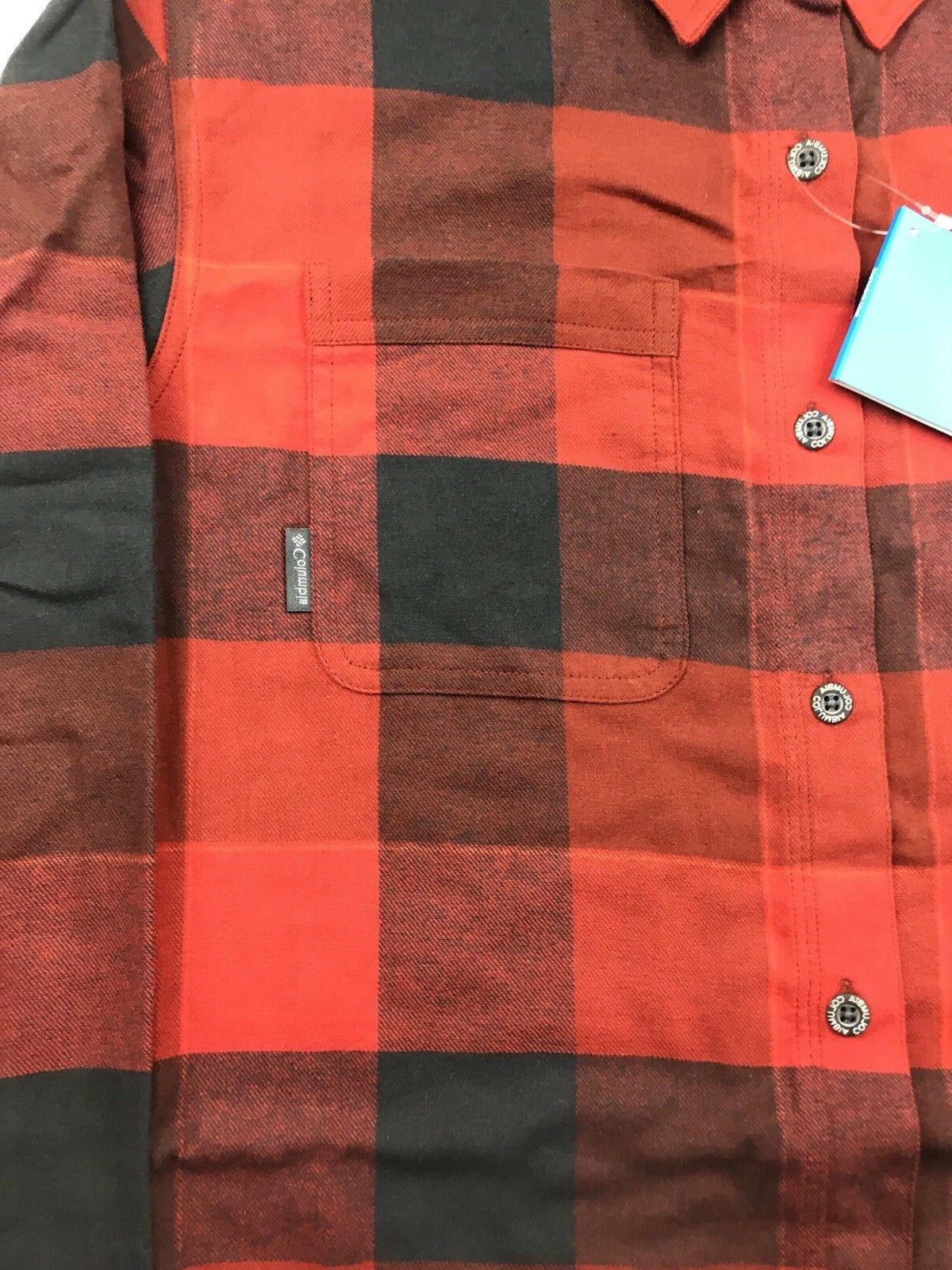 Columbia Black Plaid Brushed Flannel
