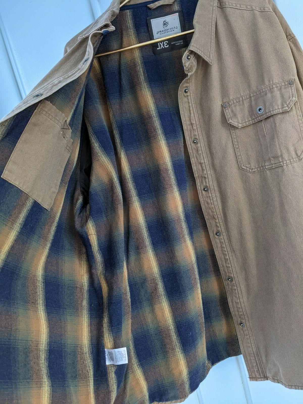 Legendary Whitetails 3XL Journeyman Flannel Lined Rugged