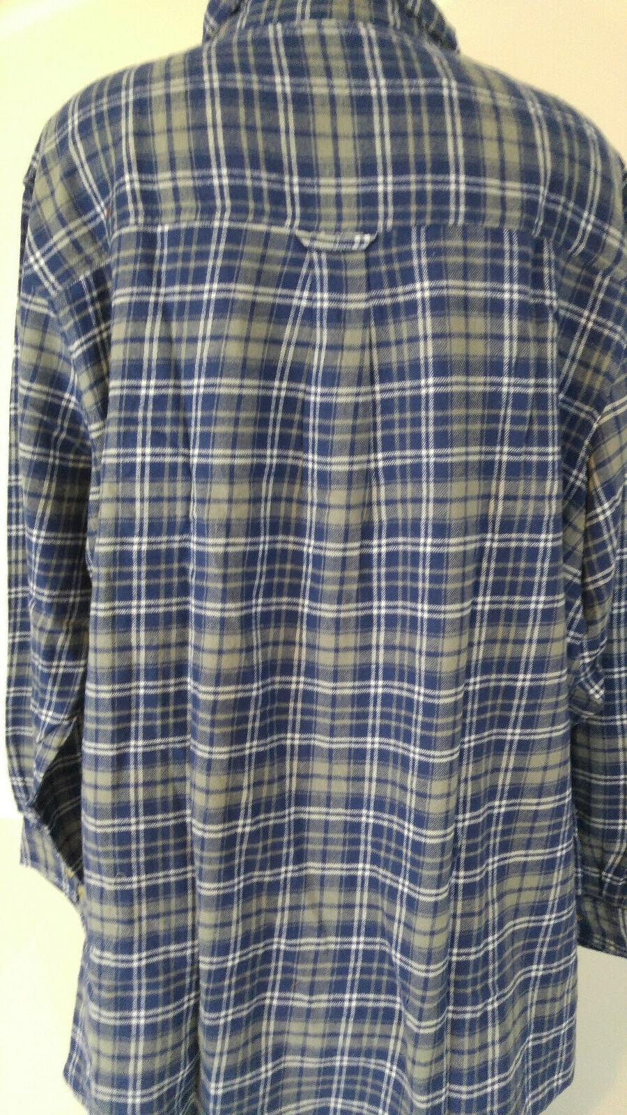 King Tall Flannel Shirt Blue Gray