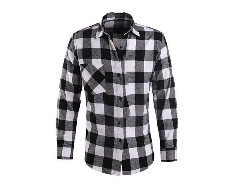 Mens Shirts Long Sleeve Button Cotton Shirt