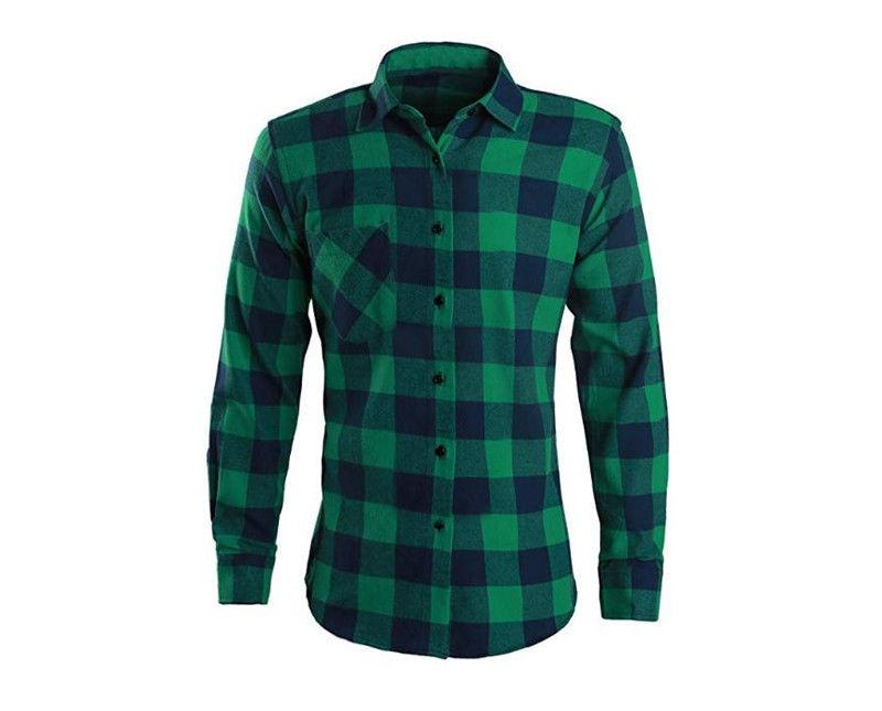 Mens Shirts Long Sleeve Button Down Casual Cotton Flannel Work Shirt