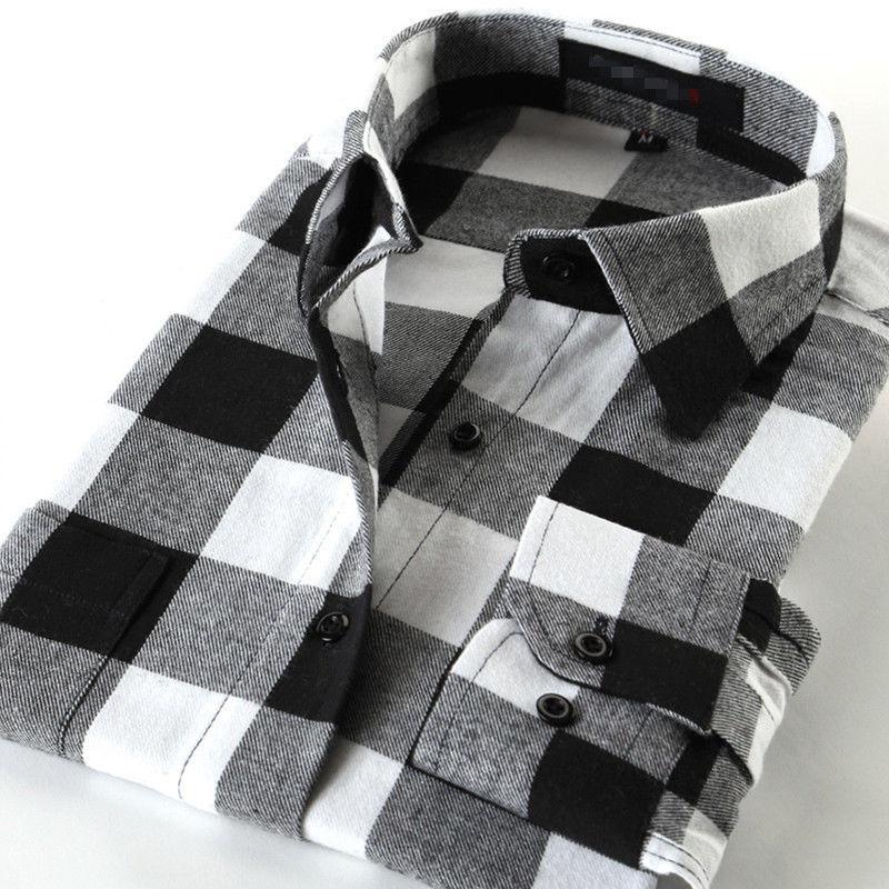 Mens Shirts Button Casual Cotton Shirt