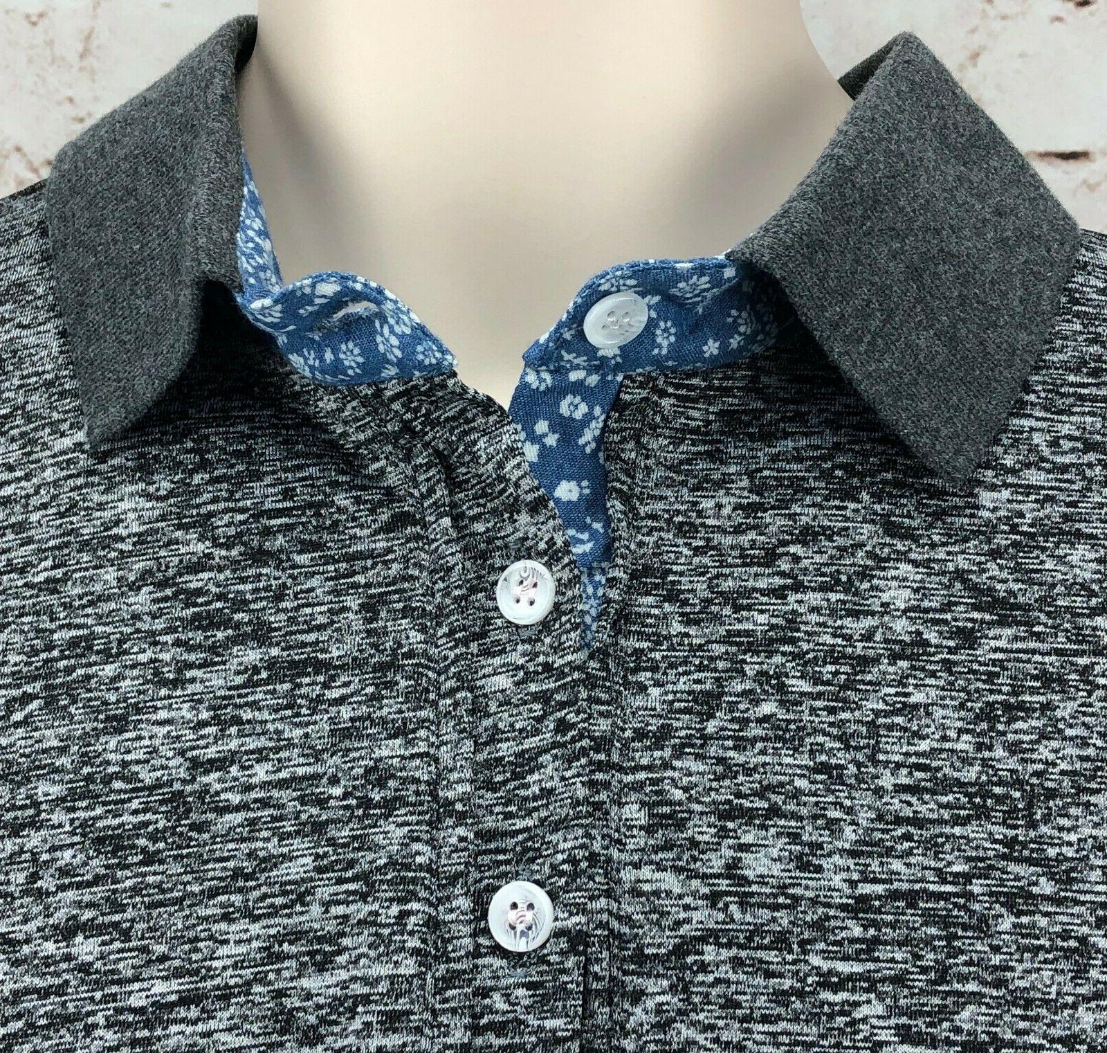 long sleeve shirt M heather gray button