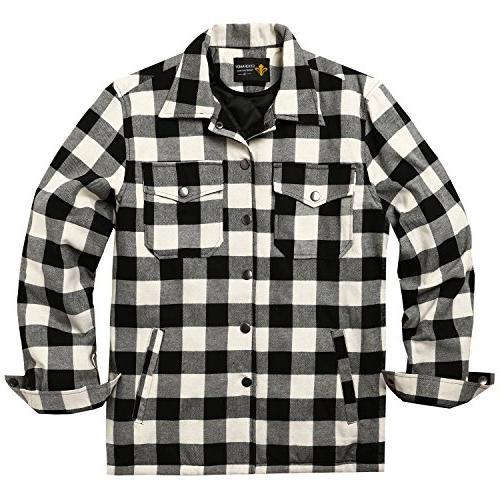 mens cotton coat winter jackets lined plaid