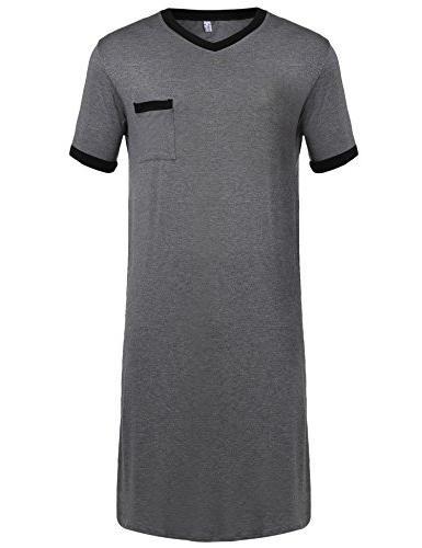 mens cotton nightshirt big and tall stripe