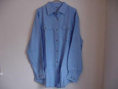 mens double brushed lunar blue flannel shirt